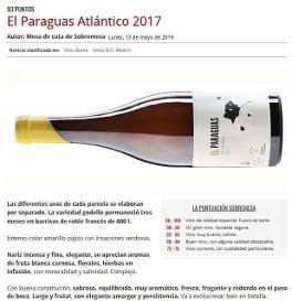 El Paraguas Atlántico 2017, mejor blanco en Sobremesa