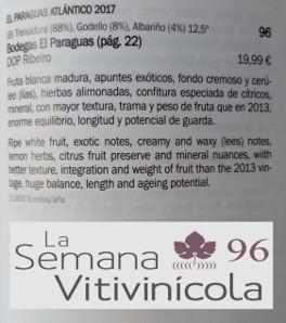 El Paraguas Atlántico, mejor vino elaborado con treixadura de España